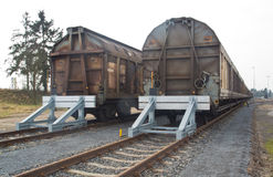 Covered goods wagons Stock Photos