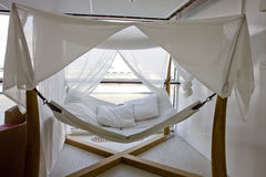 Covered Hammock on Cruise Ship royalty free stock photography