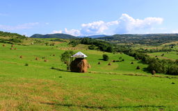 Covered haystack Stock Photo