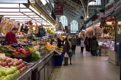 Covered market. The Valencias covered market Stock Photography