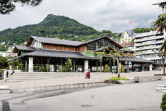 Covered Market building in Montreux Royalty Free Stock Photos