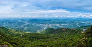 Covered with mountains-Lingshan Shangrao Royalty Free Stock Image