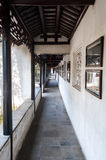 Covered outdoor walkway in the Lion Grove classical garden, Suzhou, China Royalty Free Stock Photo