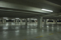 Covered parking lot nightime Royalty Free Stock Photo