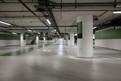 Covered parking mall. In the city Royalty Free Stock Photos