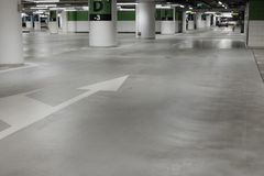 Covered parking mall. In the city Royalty Free Stock Images