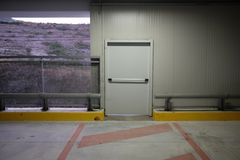 Covered parking mall. With security exit Stock Images