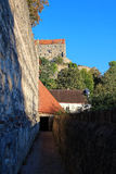Covered passage of castle Burghausen Stock Images