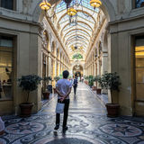 The covered passage Galerie Vivienne in Paris, France Stock Images