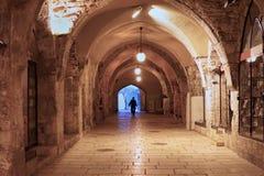 Cardo market in Old City of Jerusalem Stock Photo