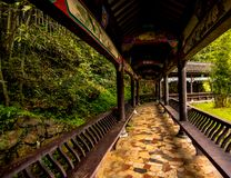 Covered Pathway of Shisun China stock photos