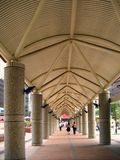 Covered Pedestrian Walkway Royalty Free Stock Photography