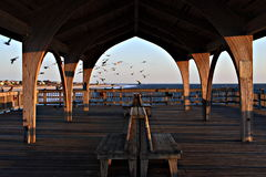 Covered Pier Royalty Free Stock Photos