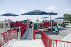 Covered playground with slide Stock Image