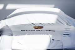 Covered porsche Stock Image