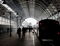 Covered railway station Royalty Free Stock Images