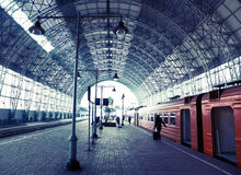 Covered Railway Station Stock Images