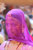 Covered. A Rajasthani woman in Ghoonghat Stock Images