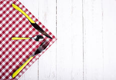 Covered on a red napkin Royalty Free Stock Photo