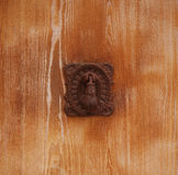 Covered with rust old door handle Stock Images
