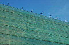 Covered scaffold Stock Image