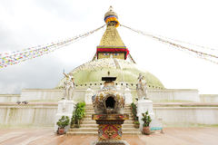 A covered sculpture in front of  Swayambhunath Stupa to place candle Stock Photography