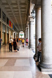 Covered sidewalk Turin Italy Royalty Free Stock Image