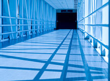 Covered Skywalk Tunnel Royalty Free Stock Photos
