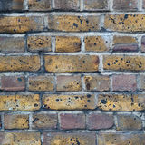Covered with soot brick wall Royalty Free Stock Photo