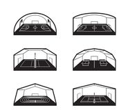 Covered sports fields and facilities. Vector illustration vector illustration