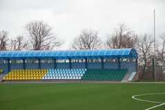 Covered stands Stock Photo