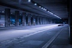 Covered Street Illuminated at Night Royalty Free Stock Image