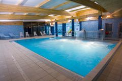 Covered swimming pool Stock Photos