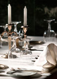 Covered with a table. Waiting for guests Royalty Free Stock Photography