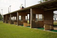 Covered Tee Area at a Driving Range. For those rainy days Royalty Free Stock Photography