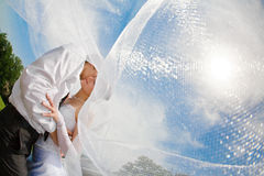 Covered with veil Stock Photo