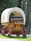 Covered Wagon. Which is pulled by a team of horses, also known as a chuckwagon Stock Photo