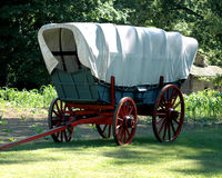 Covered Wagon. Historic covered wagon Royalty Free Stock Image