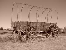 Covered Wagon. Old covered wagon in South Dakota royalty free stock image