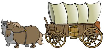 Covered Wagon royalty free illustration
