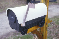 A covered wagon mailbox Stock Image