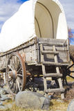 Covered wagon from the rear Royalty Free Stock Photo