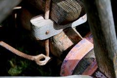 Covered Wagon Steel Kingpin Royalty Free Stock Photo