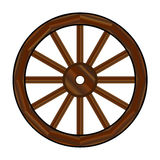 Covered Wagon Wheel Royalty Free Stock Images