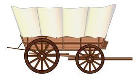 Covered Wagon Wheel Royalty Free Stock Photo