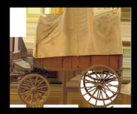 Covered Wagon, Wooden Cart, Spokes Royalty Free Stock Photo