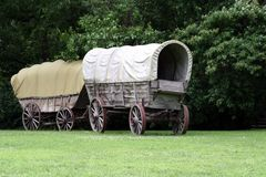 Covered wagons Stock Photos