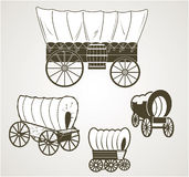 Covered Wagons Royalty Free Stock Image
