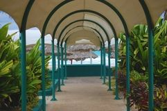 Covered Walkway Royalty Free Stock Images