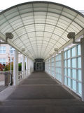 Covered Walkway. A covered walkway leads into a building Royalty Free Stock Image